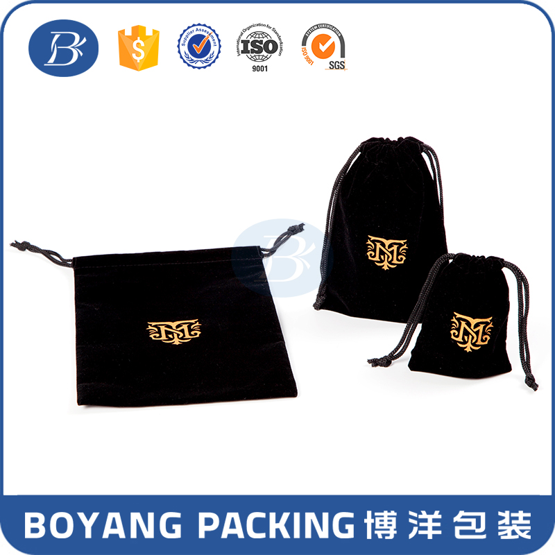 factory direct manufacture luxury high quality end velvet bag and pouches with drawstring