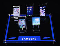 shenzhen best quality phone store acrylic mobile phone holder/mobile phone display units/clear acrylic cell phone