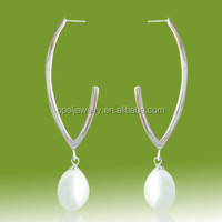 Timepieces Fashionable Jewelry Hoop Pearl Earrings