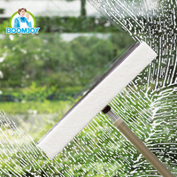 360 DEGREE SWIVEL FLEXIBLE SPRING CONNECTER TELESCOPIC POLE WINDOW SQUEEGEE WITH 2 DIFFERENT USAGES WIPER
