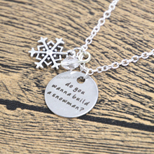 Inspired Necklace Elsa Do you wanna build a snowman Silver colored snowflake, for women or girls.