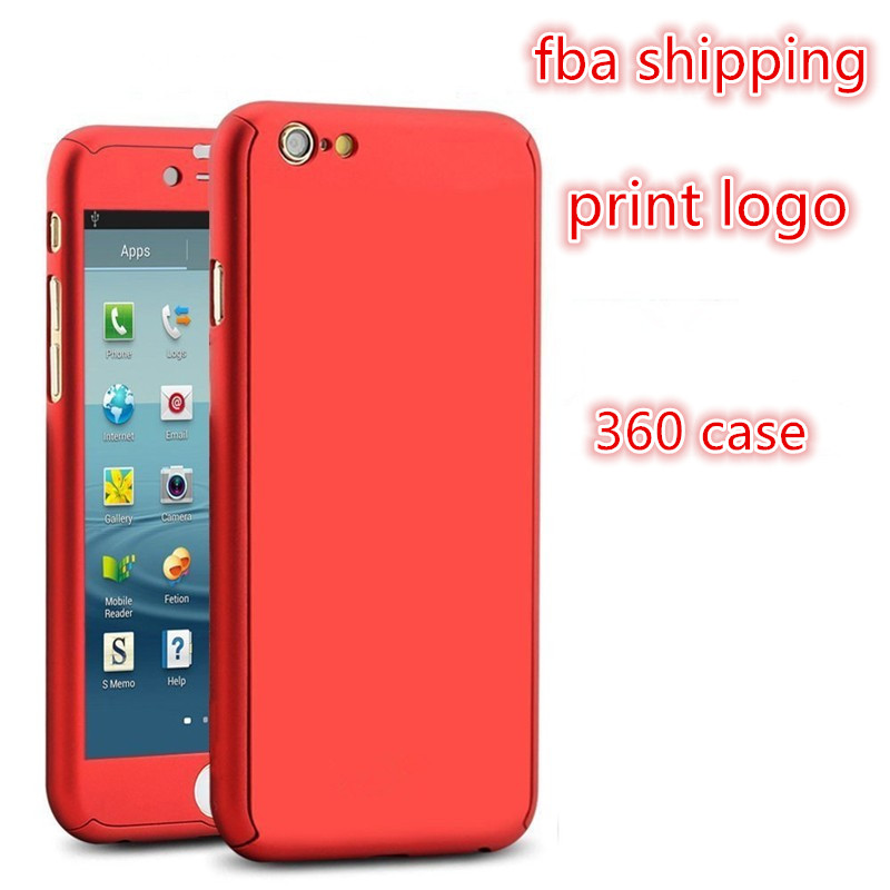 amazon fba shipping custom printed logo phone Hybrid pc Case for iphone 7 7 plus full 360 case