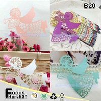 B20 Wholesale Angel laser cut place card, table card for wine glass