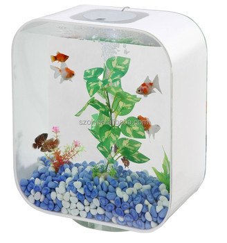 Eco cube small acrylic wholesale fish tanks for species for Eco fish tank
