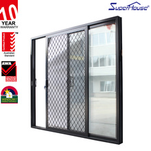 Aluminum Modern Big Grill Picture door Good View,Aluminium sliding door
