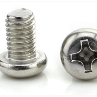 Stainless Steel Round Head Screw Pan