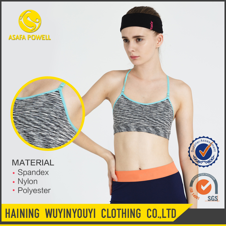Wholesale Sports Wear Fashionable Nylon Spandex Women Sexy Genie Sports Bras