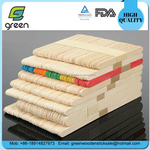 Eco-Friendly Feature wood material ice cream sticks with CE Certification