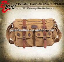 Classic premium Canvas leather Messenger Bags For Men