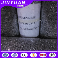 Hexagonal hole shape wire mesh, galvanized surface treatment 2'' inch 50mm*50mm mesh size, 19 guage wire diameter