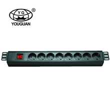 1.5U German type 8 ways sockets intelligent PDU