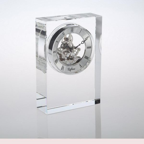 Crystal Table Clock for wedding gift or business giveaways