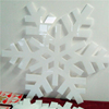 Customize large projector snowflake, large snowflake decorations, decorative plastic snowflakes