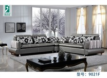 Modern corner living room sofa leather
