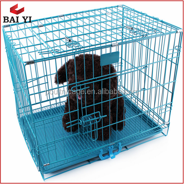 Collapsible Suitcase Wire Metal Folding Pet Cage Crate Dog Cage Kennel