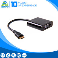 High quality mini HDMI male to VGA female adapter