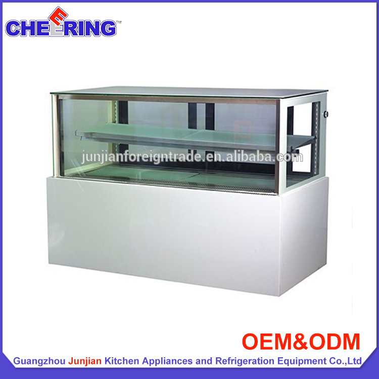 Guangzhou junjian OEM bakery equipment refrigeration Japanese style right angle cake display refrigerator