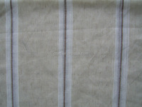 linen look of fancy stripe sheer curtain fabric