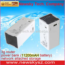 Lte 4g/wcdma 3g/Adsl Wireless router for 11200MAH power bank wifi repeater