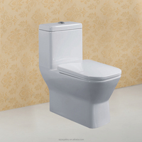Dual Flush White Ceramic Square One Piece Toilet