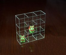 Acrylic Glass Rocks Display Case Clear Mini Figures Storage Boxes Lego Display