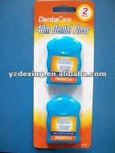 Card pack Dental nylon teeth floss for cleaning teeth/dental floss on card