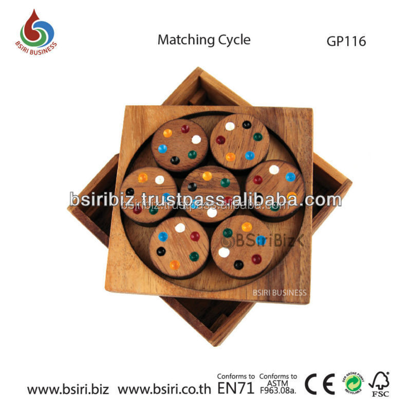 Matching Cycle wooden Educational toys and games
