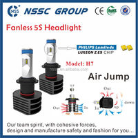 New 5S Fanless Car H7 LED Headlight 12V Philip LED Head Light H7 LED For Car Motorcycle With Canbus Error Free Led Bulb
