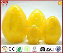 Wholesale Easter egg glass crafts with led light by hand blowing