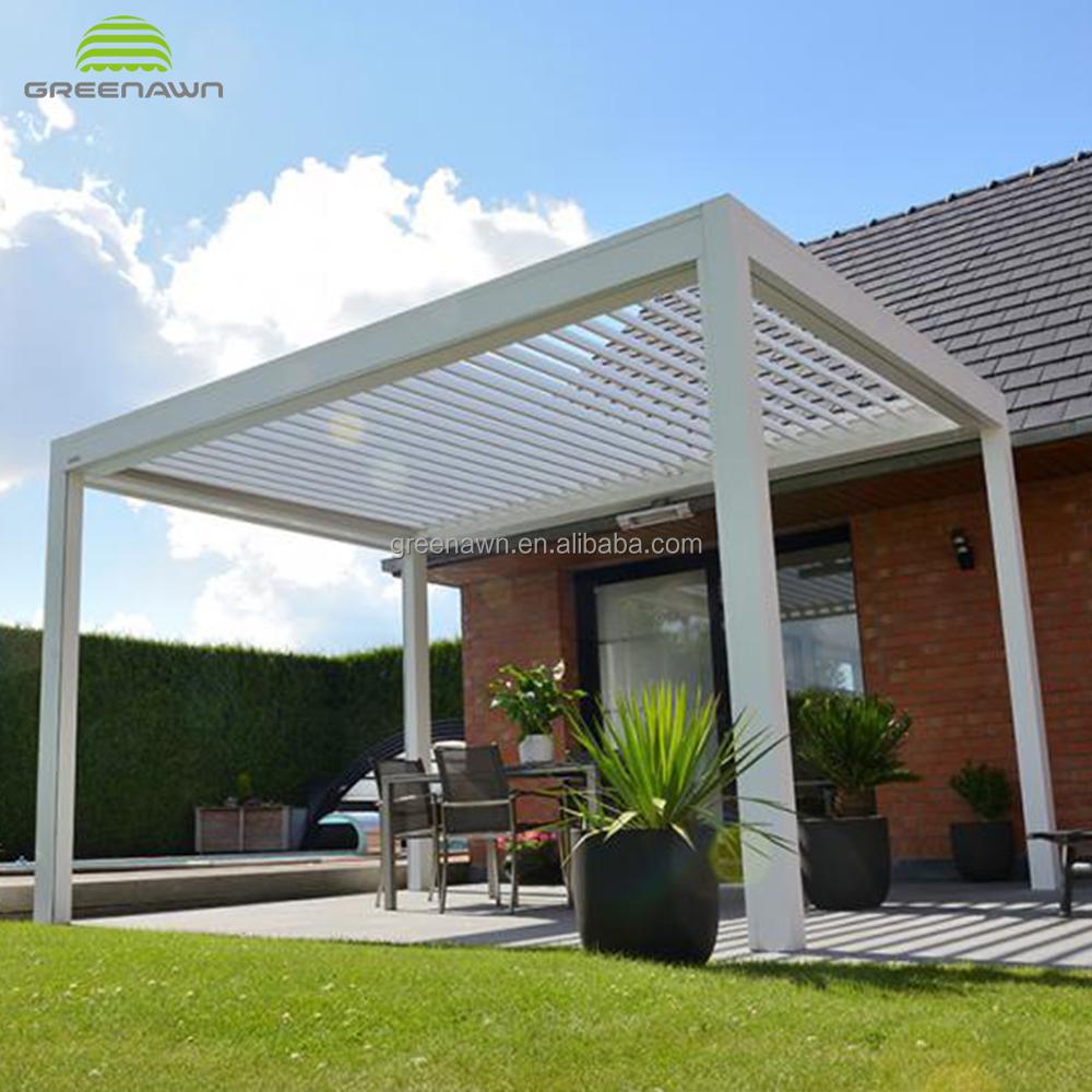 Outdoor motorized retractable roof pergola with led light buy retractabl roof pergolaaluminum pergola with fabricbioclimatic pergola product on alibaba