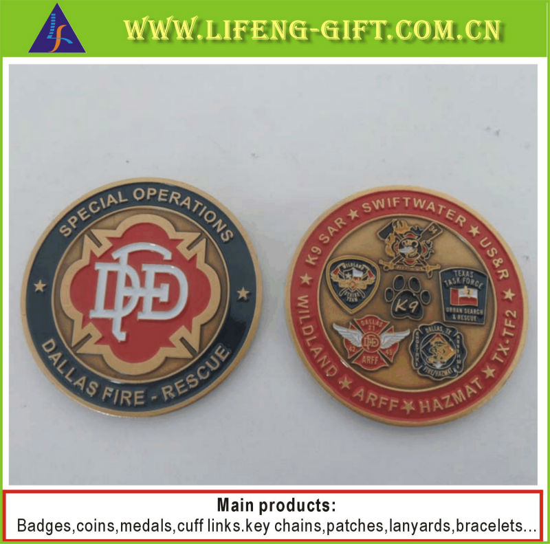 Dallas Fire rescue DFD metal coins