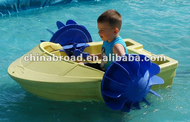 2011hot-selling small plastic rowing paddle boat for sale
