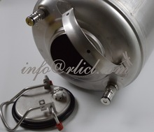 Stainless Steel 304 Brew Bar Accessories Ball Lock Cornelius Beer Soda Barrel Keg 12L / 3Gallon Lid & Pressure Relief Valve