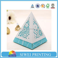 Laser cut gift box for candy packaging hot sale