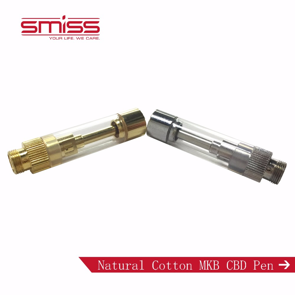 SMISS MKB Free Sample CBD Oil Atomizer Competitive Smoke Electronic Cigarette, Thick Oil Vape Pen Vaporizer Cartridge