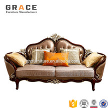 H965R sofa set furniture philippines in sri lanka genuine leather hand carved luxury sofa sectional
