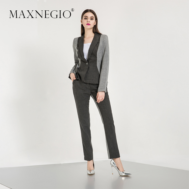 2017 Spring New Style Western Style Girl Formal Office Women Coat Pant Business Suits For Ladies
