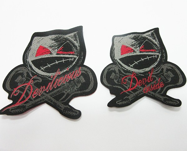 Die Cut Custom Shaped Heat Seal Backed Iron on Jeans Label Patch