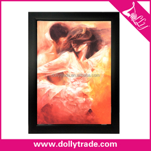 2015 Hot Sell Sex Handmade Nude Woman Kiss A Man Painting