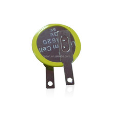 Fast Delivery CR1620 75mAh 3 volt Lithium coin cell battery with Customized solder tabs for IC card made in china