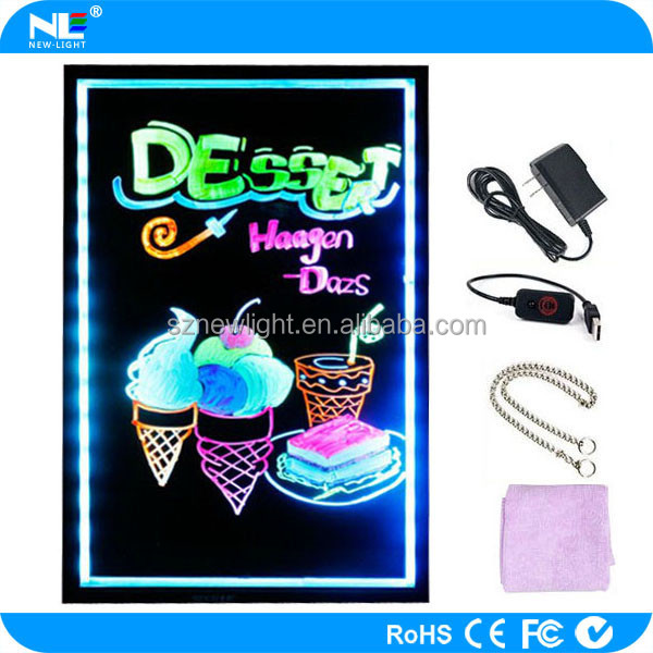 high quality and low price led writing /sign/display board for shop/coffee/bar