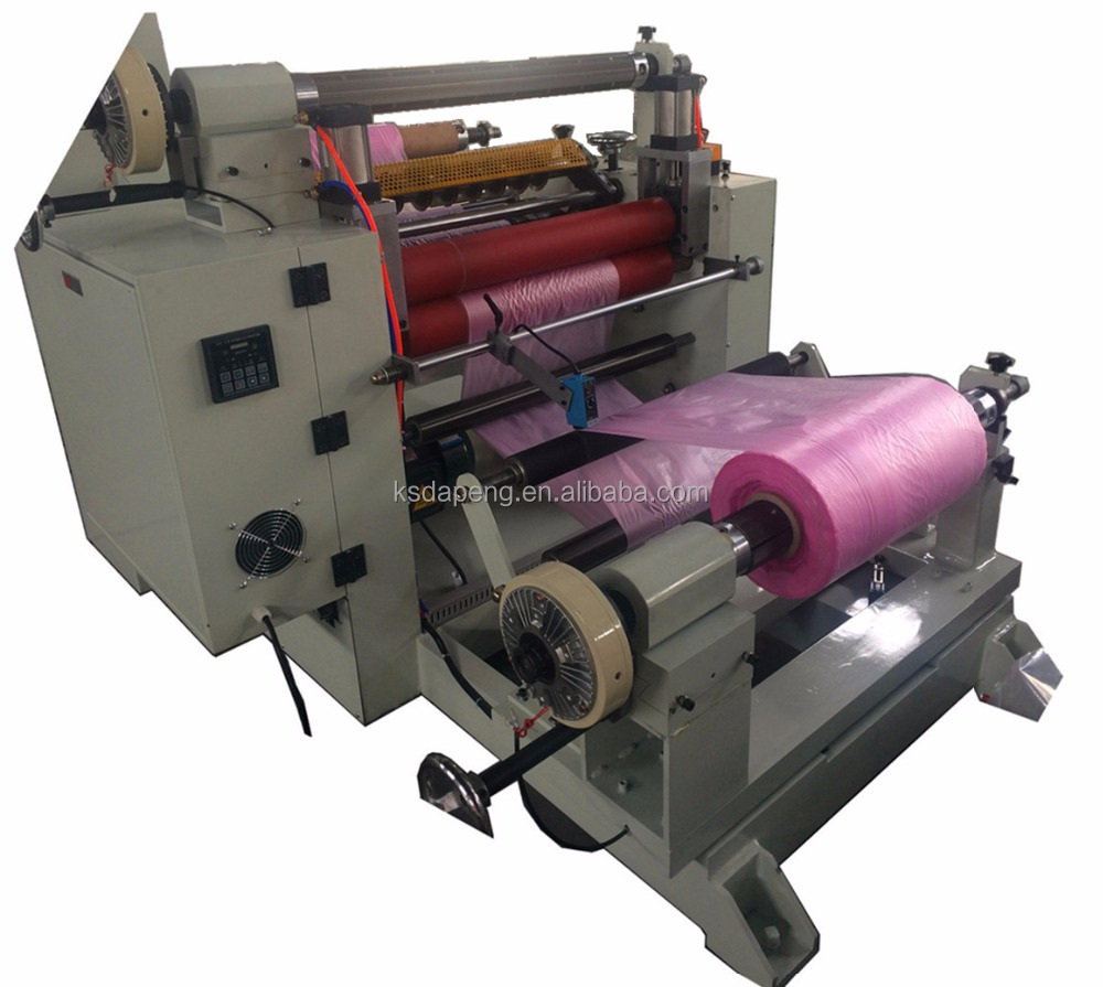 Automatic stretch film slitter rewinder machine