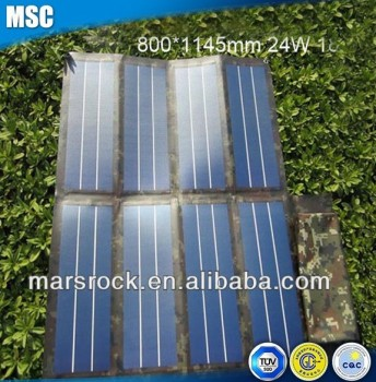 24W 18V Folding Multi-function Flexible Solar Panel Charger for Laptop, Mobile Phone, MP3, MP4