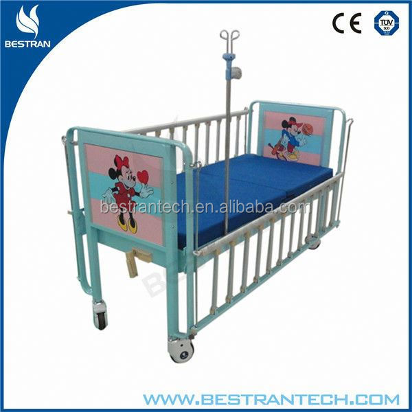 BT-AB002 Full length collapsible side railings hospital pediatric hospital bed