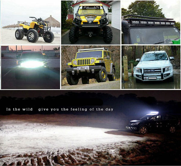 High power 120w to 288w cree curved led light bar offroard led light bar with aluminum housing