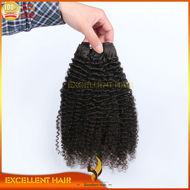 2015 new products raw can be permed no shedding unprocessed curly brazilian remy human hair