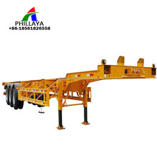 Manufacture wholesale trailer chassis 3 axles skeletal container frame 40ft 60ton skeleton semi trailer in cheap price