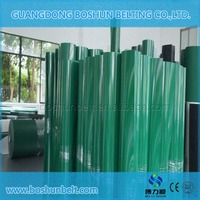 China manufacturer high quality green PVC flat conveyor belt for general industry