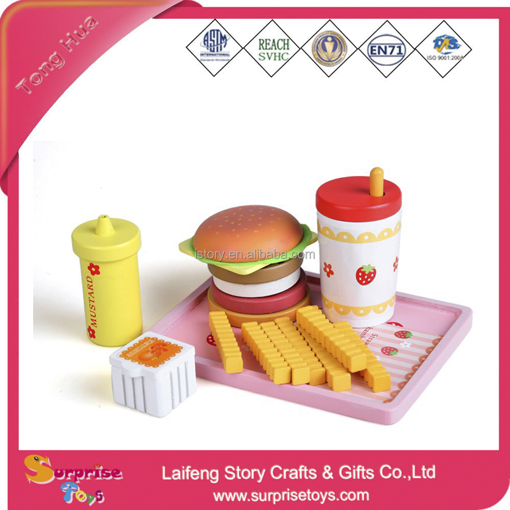 Rubber Toy Food Squishies Ice Cream and Hamburg Toy
