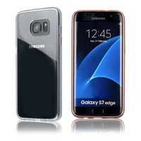 C&T Plated Frame Silicone Soft TPU Bumper Hard Protective Transparent Case Cover for Samsung Galaxy S7 Edge